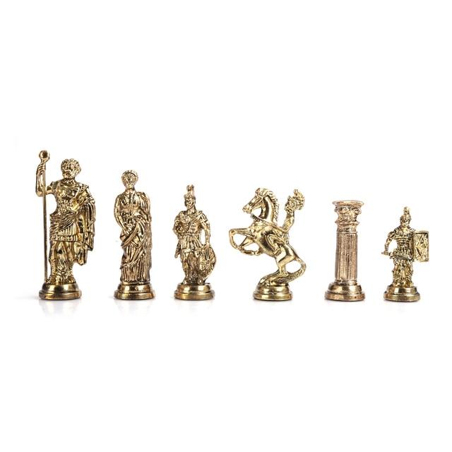 Figurines historiques romaines faites à la main, pièces d'échecs en métal 11cm, planche (sans plateau) 2