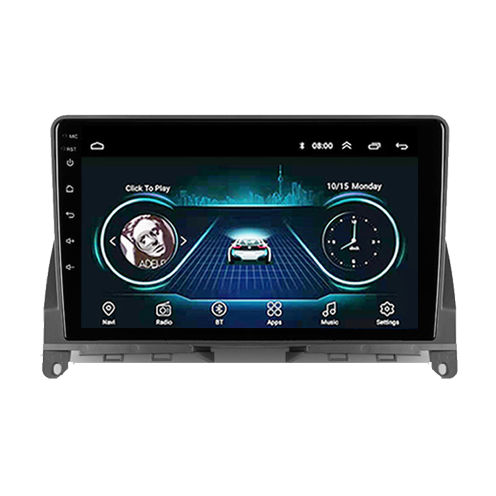 Eastereggs 9 2 din Car Multimedia Player Android 8.1 Wifi GPS Autoradio  For Mercedes Benz C Class 3 W204 S204 2006 - 2011