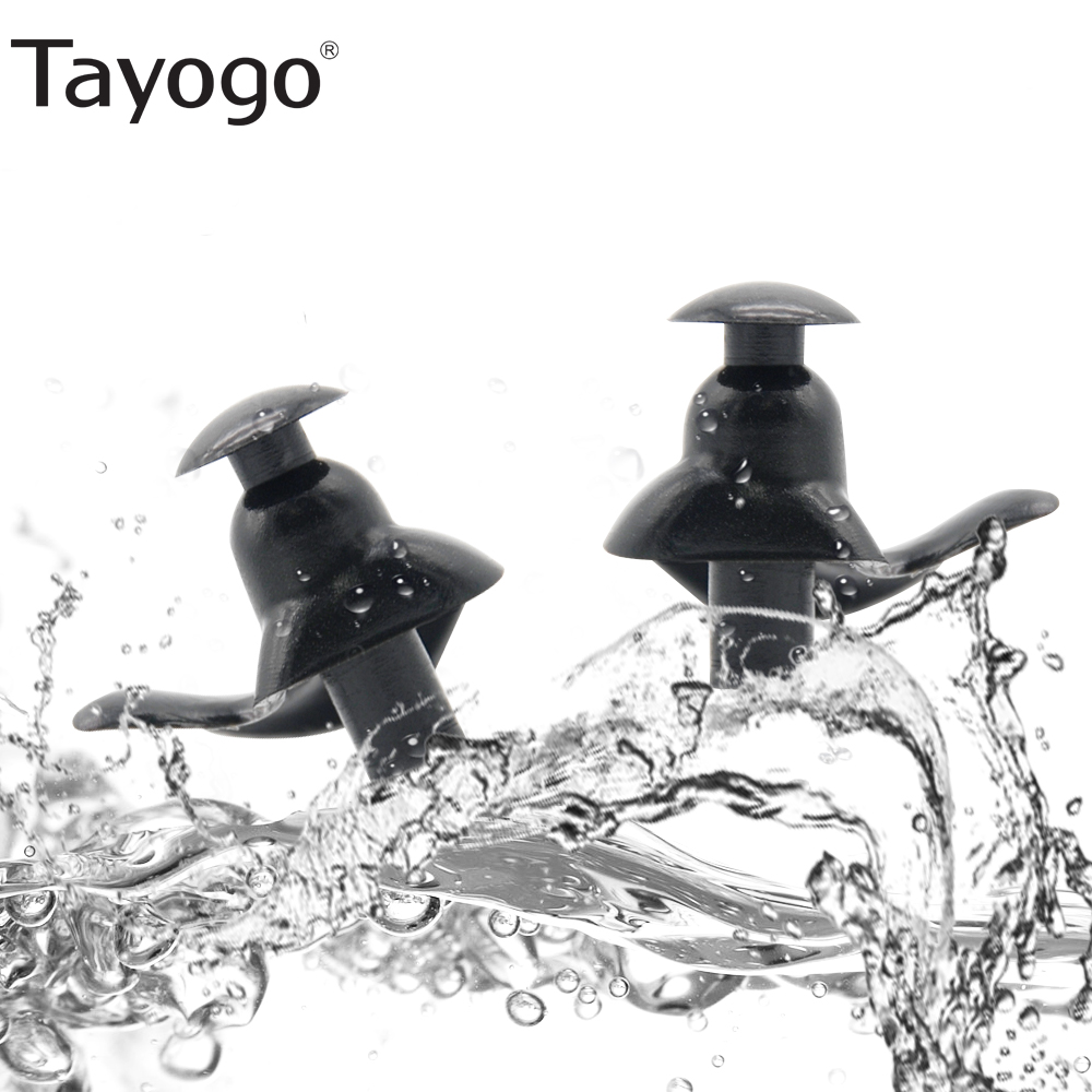 Tayogo 1 Pair Soft Ear Plugs Environmental Silicone Waterproof Dust-Proof Earplugs Diving Water Sports Swimming Accessories Drop
