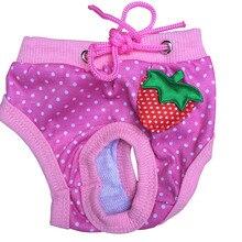 Dog Panty Shorts Pants Underwear Pets Dogs Pup Diaper Striped Polka Dots Sanitary