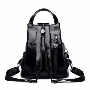 Image 3 - 2019 kobiet skórzane plecaki wysokiej jakości Sac A Dos Anti theft plecak dla dziewczynek Preppy torby szkolne dla dziewczynek Casual Daypack