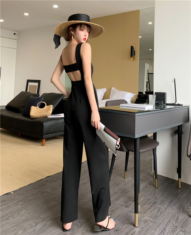 Fashion Women Bodycon Hot Backless Summer Jumpsuit Sleeveless Playsuit Beach Straight Solid Party Club Holiday Romper