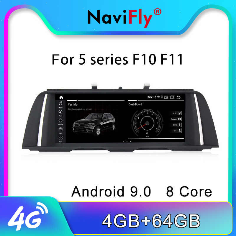 "NaviFly 10,25 ""ips Android 9,0 автомобильный dvd gps для BMW 5 серии F10 F11 520i (2011-2016) CIC/NBT 4 Гб + 64 Гб 4G LTE wifi USB BT"