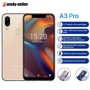 Image 1 - UMIDIGI A3 Pro Global Dual 4G Smartphone 5.7 2.5D Full Screen 3GB+32GB Android 8.1 MTK6739 Quad Core 12MP + 5MP Mobile Phone