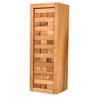 Children Toys Wooden Stacked Layers Building Block Gift Tower Block Stack Game Toys for Adult Party Bar Entertainment Kits
