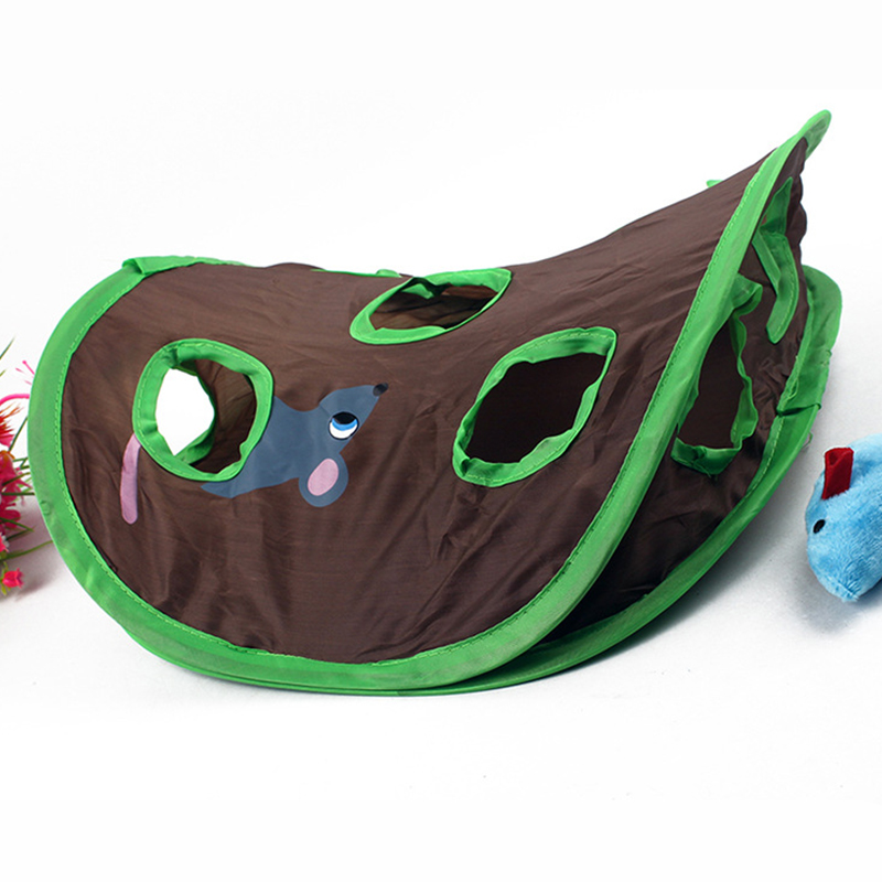 Funny Pet Cat Mice Intelligence Educational Toys Play Bell Tent With 9 Holes Tunnel Pet Cat Play Toys Supplies in Cat Toys from Home Garden