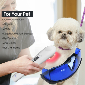 Jak b-cure laserowe urządzenie Vet dla zwierząt domowych domowa terapia laserowa przyspieszają gojenie i zmniejszają ból i stan zapalny u psów kotów tanie i dobre opinie Chin kontynentalnych Fizjoterapia Instrument Composite material JM302 1x808nm+ 12x650nm 100V - 240V LLLT Cold Laser Medical Device