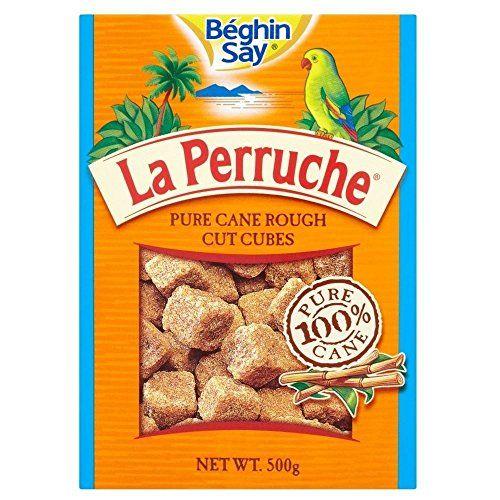 Beghin Say La Perruche Pur Canne Rough Cut Cubes (500g) Brun - Paquet De 6