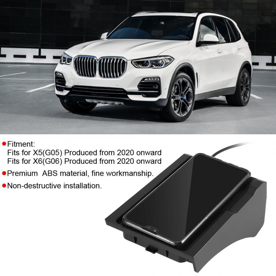 US $49.5 29% OFF Car Wireless Charger 15W Fast Phone Charging Holder Accessory Fits for BMW X5 X6 G05 G06 2020 Onward Cables, Adapters & Sockets 
