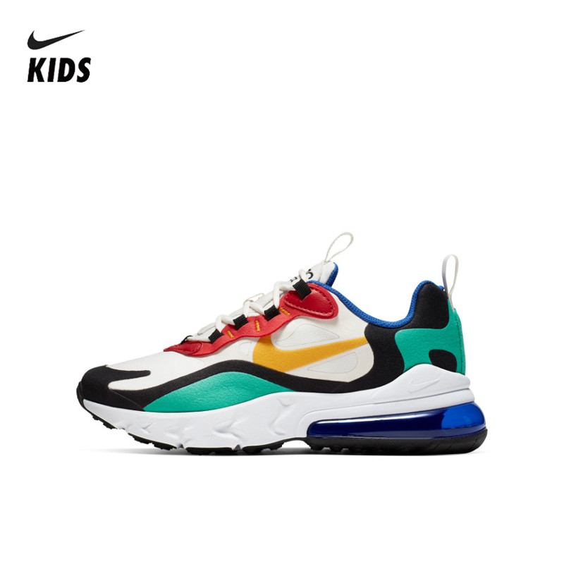 NIKE AIR MAX 270 REACT Kids Original Children Running Shoes Comfortable Sports Outdoor Mesh Sneakers BQ0102-002