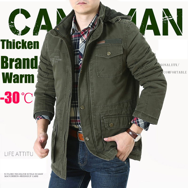 New Thick Warm -30 Degrees Winter Jacket Men Windbreaker Cotton Parka Coats Men Military Multi-Pocket Business Brand Clothing