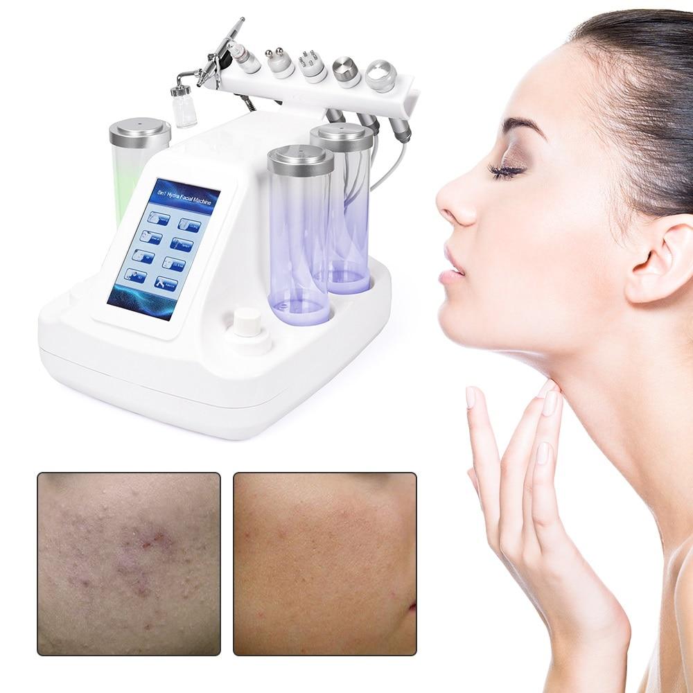 6 en 1 Hydra Dermabrasion peler propre soins de la peau BIO lumière RF vide visage nettoyage eau oxygène Jet Hydro peler Machine - 2