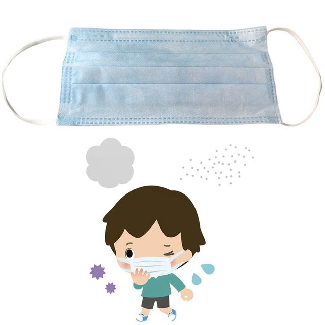 10Pcs/Lot Anti-Dust Safe Breathable Mouth Mask Disposable Ear Loop Face Masks 3 Layers Thickened Nonwoven 3