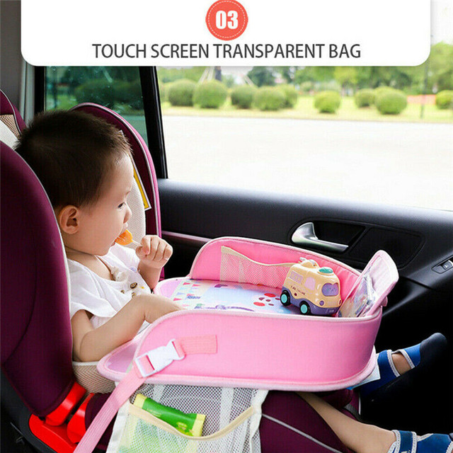 Car Table Kids Waterproof Table Car Seat Tray Storage Kids Toys Baby Fence Children Dining Drink