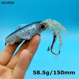 HOOFISH  5pcs/lot Octopus Skirts Sea Fishing Wobbler Bait  58.6g/150mm 5colors Squid Jig Fishing Tuna Lures|Fishing Lures|Sports & Entertainment -