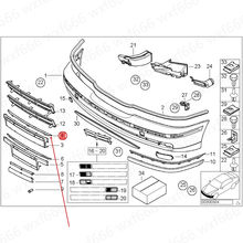 Placa Dianteira do carro tira tira chapeamento Frente seguro brilhante Adequado para E39b mw520I 523I Front bumper placa guarnição