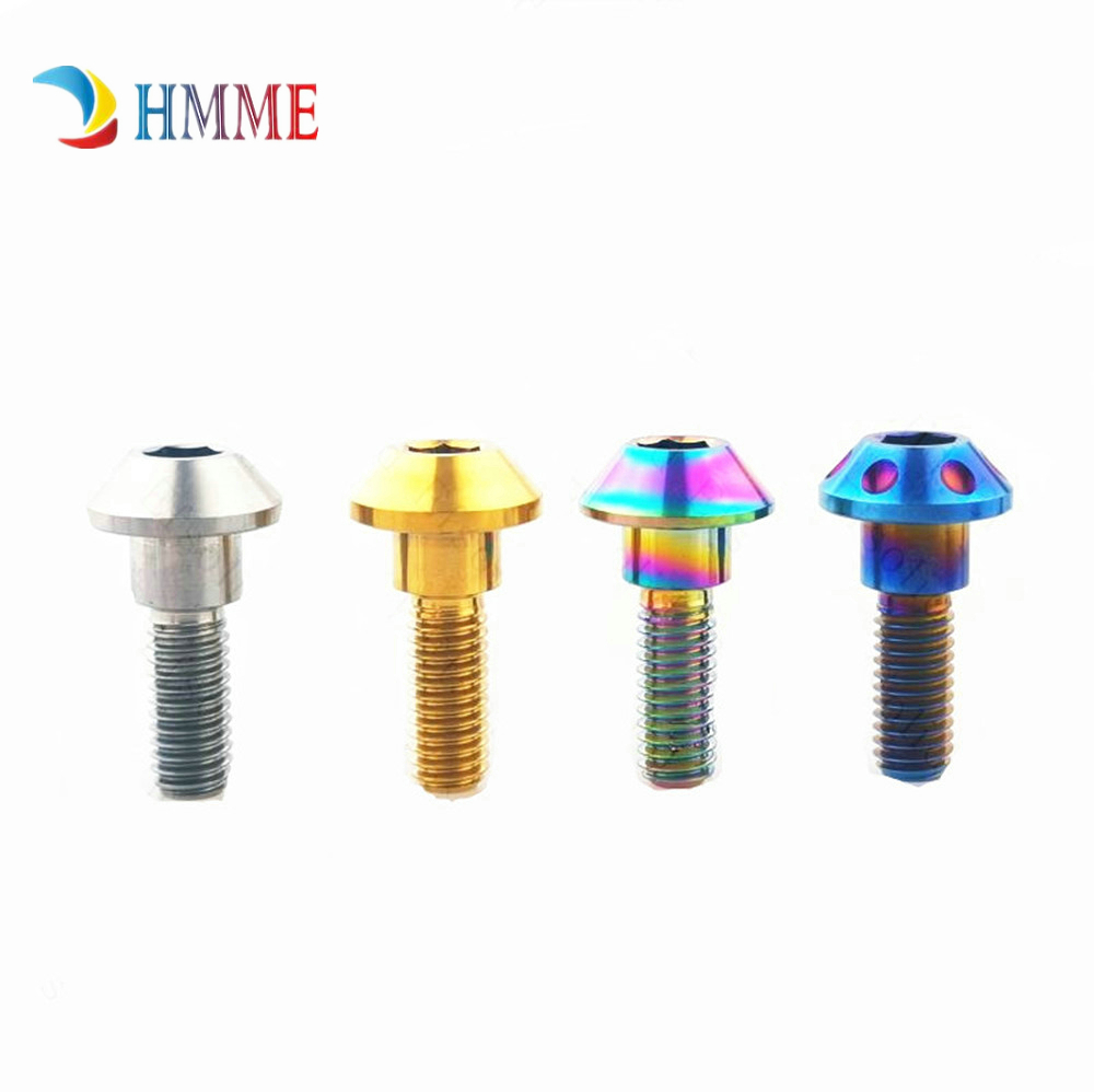 <font><b>M6x20mm</b></font> <font><b>Titanium</b></font> Step Bolts for Yamaha Motorcyle DIY Brake Disc Screw Caliper Disc Hexagon Socket Ti Screws Ti Fastener 4 PCS image