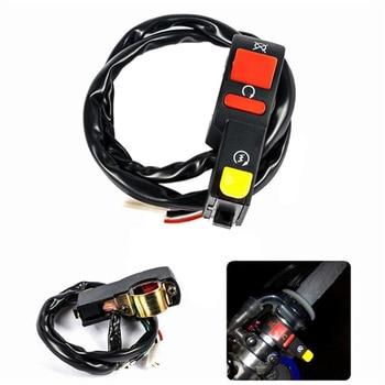 """1 pieza de interruptor de encendido y apagado eléctrico para motocicleta ATV Quad Bike fit 7/8 """"manillares"""