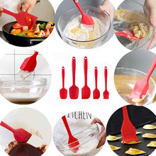 5pcs/set Kitchen Tools Accessories Practical Multi-functional Silicone Scraper Kit Heat Resistant For Cooking  cake