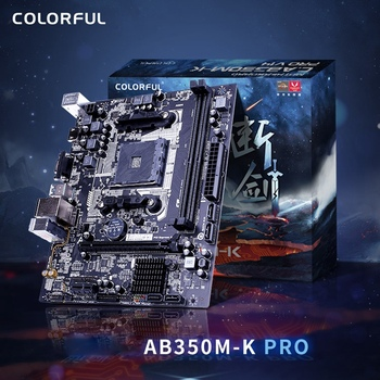 Colorful AB350M-K PRO V14 Motherboard Dual Channel DDR4 2666/2400/2133MHz RAM USB3.0 SATA3.0 6Gb/S for AM4 Interface Processor