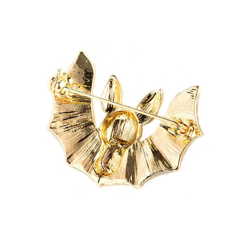 1 Pcs Cantik Fashion Bat Bros untuk Wanita Vintage Hidup Pin Bros Mantel Musim Dingin Aksesoris Baik Gfit Halloween Pin