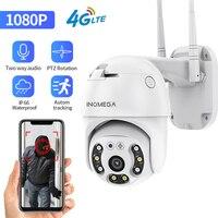 Telecamera INQMEGA 4G WIFI 2MP 1080P PTZ telecamera Dome Wireless GSM SIM Card telecamera IP sicurezza CCTV esterno P2P IR visione notturna 30M