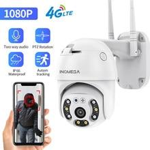 INQMEGA 4G kamera WIFI 2MP 1080P kamera PTZ Dome bezprzewodowa karta SIM GSM kamera IP bezpieczeństwo na zewnątrz CCTV P2P IR Night Vision 30M
