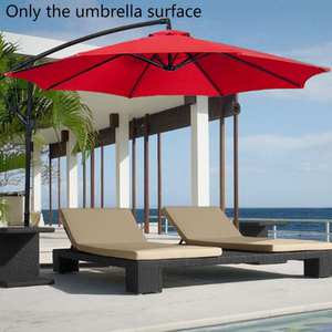 Waterproof Durable Parasol Cover Shade For Patio Umbrella Replacement Canopy