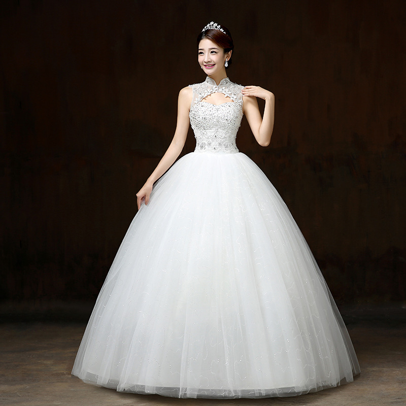 AIJINGYU 2018 Ivory Free Shipping New Hot Selling Cheap Ball Gown Lace Up Back Formal Bride Dresses Wedding Dress FU118