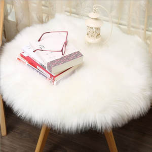 Chair-Cover Carpet-Seat Sheepskin-Rug Home-Decor Faux-Wool Soft Nature Warm Fluffy Artificial