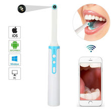 WiFi Dental Camera HD WIFI Intraoral IP67 Waterproof Oral Endoscope Teeth Mirror 8 LED Light Monitoring Inspection
