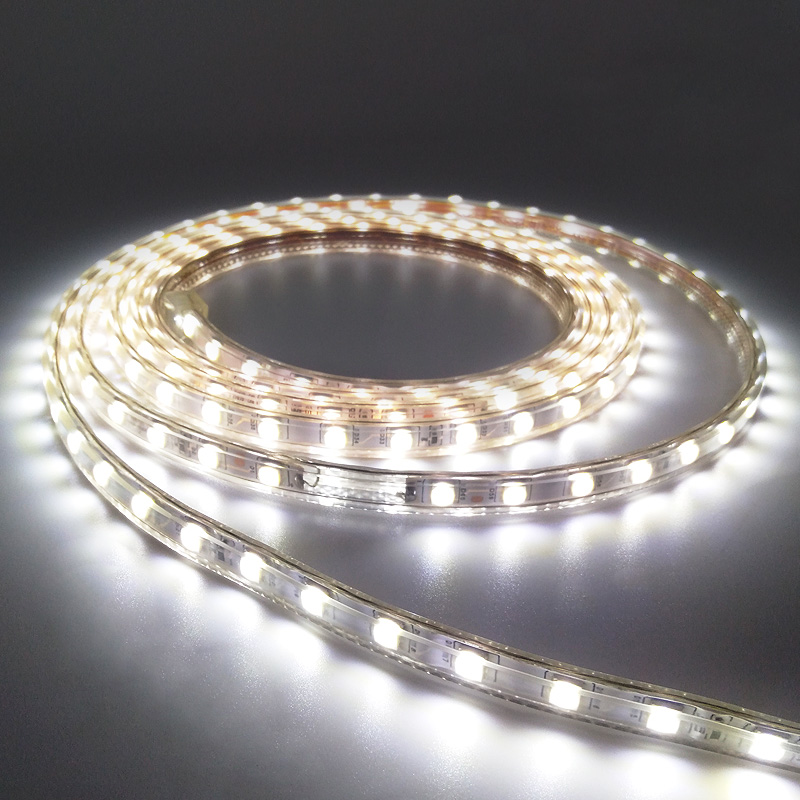 AC220V LED Strip SMD 5050 Flexible Light 60leds/m Waterproof Led Tape LED Light With Power Plug 1M/2M/5M/6M For Outdoor Garden