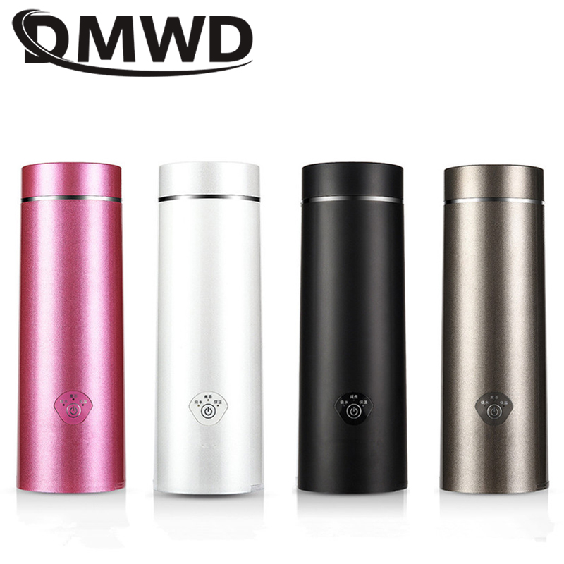DMWD Mini Electric Kettle Hot Water Thermal Boiler Travel Stainless Steel Tea Coffee Milk Boiling Cup Portable Teapot 110V-220V