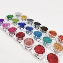 Nail-Glitter-Set Pigment-Powder Nail-Art-Decorations Sugar Holographic Dust Mix-Colors