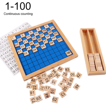 Montessori Infant Early Education Toys Kindergarten Professional Mathematics Teaching Aids 1-100 Continuous Number Board wooden balance scale group montessori children s mathematics teaching aids kindergarten early education weighing toys gifts