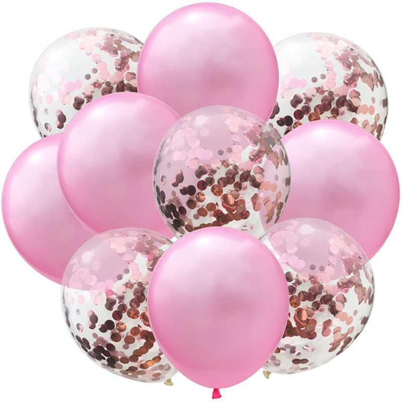 FAI DA TE Coriandoli Festa di Compleanno Palloncini 12 pollici Palloncino In Lattice Aria Ballon Matrimonio Festa di Compleanno Decorazione Baby Shower Bambini Globos Baloon