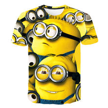 T-shirt enfant Hipster | simple, one eye minion imprimé, mignon, col rond, mode 2020(China)