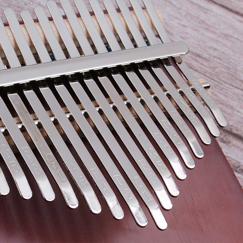 Protable Piano 17 klawiszy Kalimba Thumb Piano wykonane przez pojedyncza płyta wysokiej jakości drewna mahoniowy korpus Instrument muzyczny