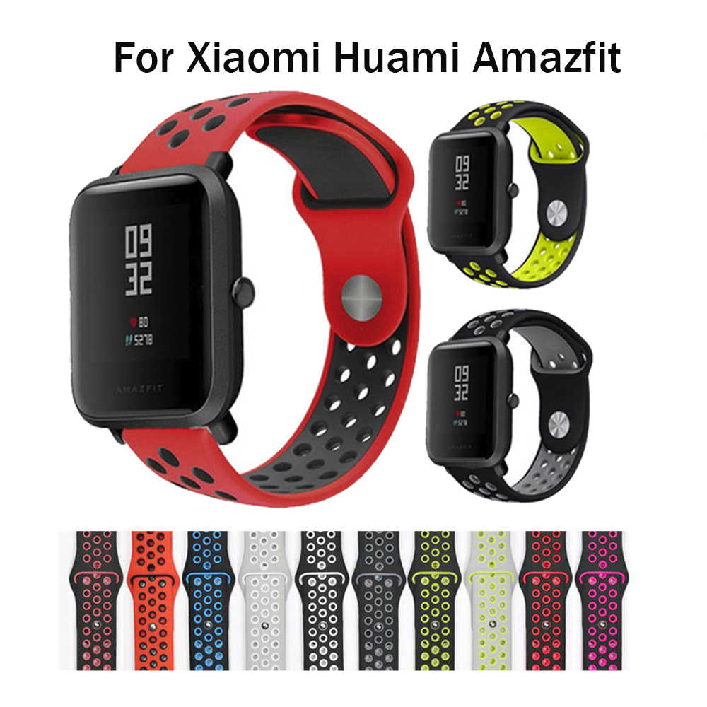 Silicone Watch Strap For Xiaomi Huami Amazfit Bip GTS GTR Stratos 2 Band 22MM 20MM Sport Strap For Samsung Gear S3 S2 Huawei GT