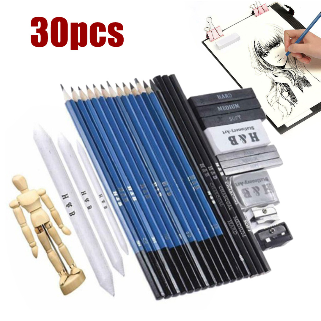 1 Set Sketching Drawing Pencils Eraser Pencil Sharpener Drawing Kit For Kids Adults School Painting Art Writing Supplies