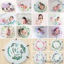 цена на Newborn Photography Bean Bag Stretch Blanket Watercolor Backdrops Baby Photo Shoot Studio Posing Floral Background Photos Props