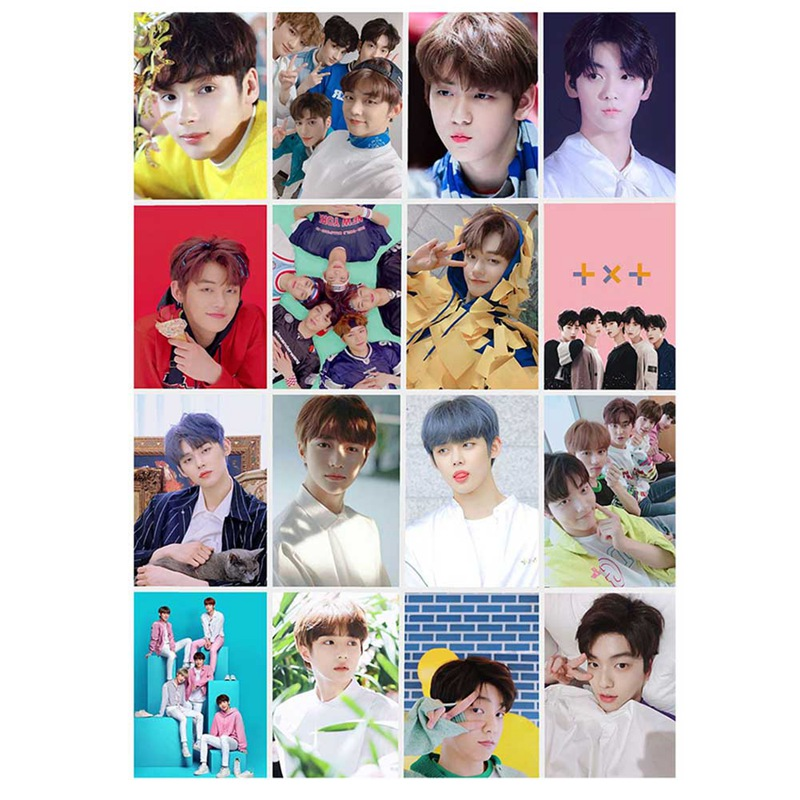 New 16Pcs/setKPOP TXT Album Self Made Paper Lomo Card Photo Card Poster HD Photocard Fans Gift Collection