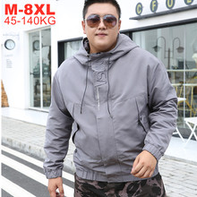 Primavera outono grande tamanho 8xl 7xl 6xl 5xl jaquetas homens hip hop streetwear fino casaco com capuz outerwear casual masculino
