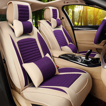 Universal Linen Fabric Automoblies car seat cover For toyota avensis rav4 citroen berlingo granta car accessories car styling