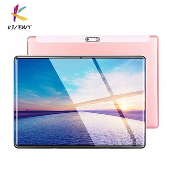 KIVBWY Ready stock Tablets 10.1 inch Android 8.0 Octa Core 4G Phone Call 2+32GB ROM Bluetooth Wi-FI 2.5D Steel Screen Tablet PC 10 1 inch official original 4g lte phone call google android 7 0 mt6797 10 core ips tablet wifi 6gb 128gb metal tablet pc