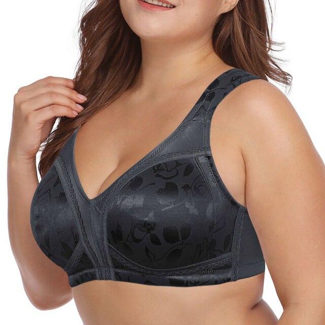 Floral Underwear Lager Cup Soft Black Lingerie 2