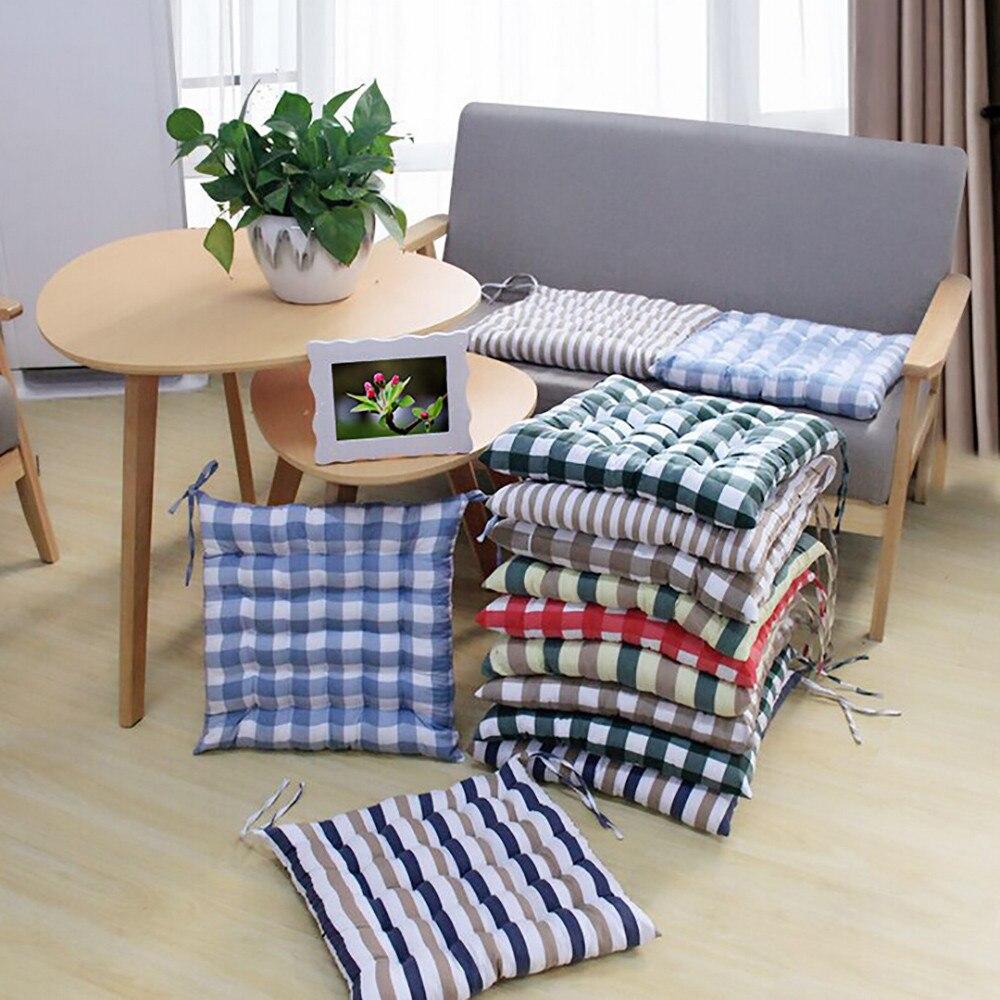 Plaid Outdoor Garden Patio Home Kitchen Office Sofa Chair Seat Soft Cushion Pad DecorWaist Floor Comfortable Seat Cushion #45