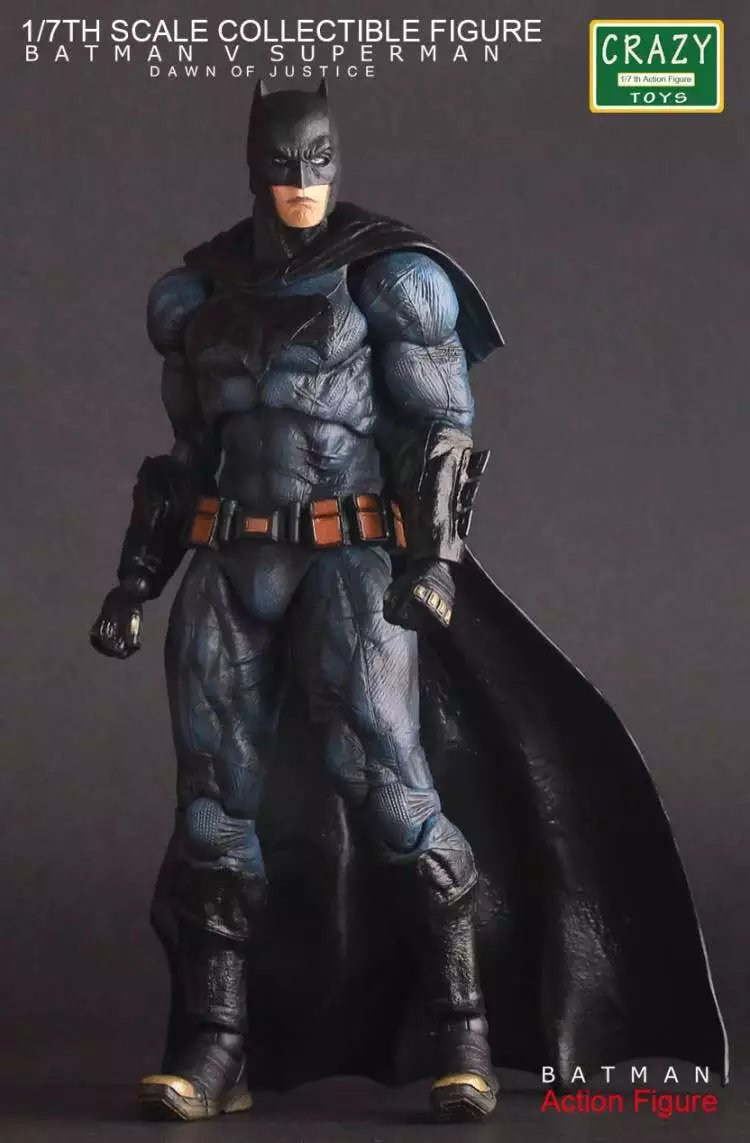 Crazy Toys Batman The Dark Night PVC Batman Action Figure Collectible Model Toy 25cm