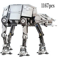 New Star Series Wars Motorized Walking AT AT Model Kit Set Building Blocks Bricks StarWars fit legoinglys Toys Children Gift