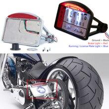 אופנוע לוחית רישוי LED זנב אור אופקי צד הר Bracket מחזיק עבור הארלי BWM הונדה Bobber ופר אישית סיור